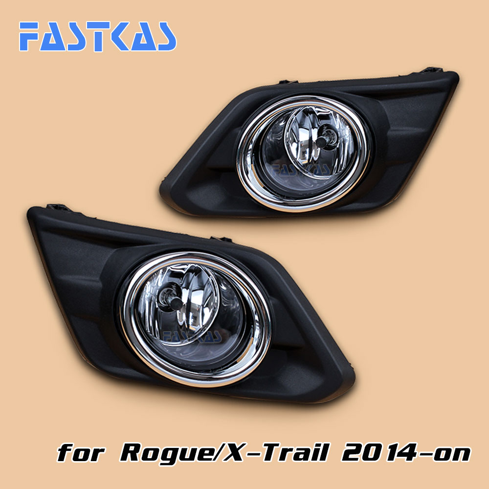 12v 55W Car Fog Light Assembly for Rogue 2014 2015 2016 Front Left and Right set