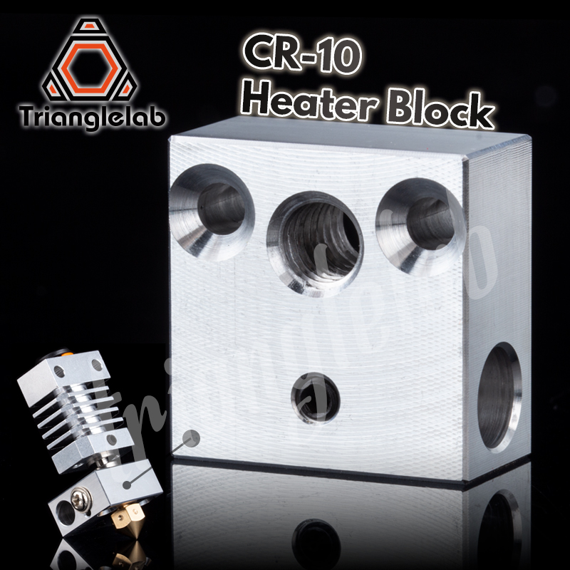 Trianglelab High Quality Swiss CR10 Block CR10 Heated Block For Swiss CR10 Hotend Mk8 Block Mk9 Block Print Head Extruder J-head