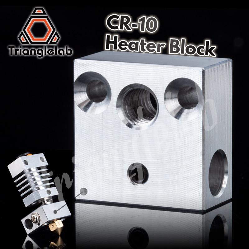 Trianglelab High Quality Swiss CR10 Block CR10 Heated Block For Swiss CR10 Hotend Mk8 Block Mk9 Block Print Head Extruder J-head