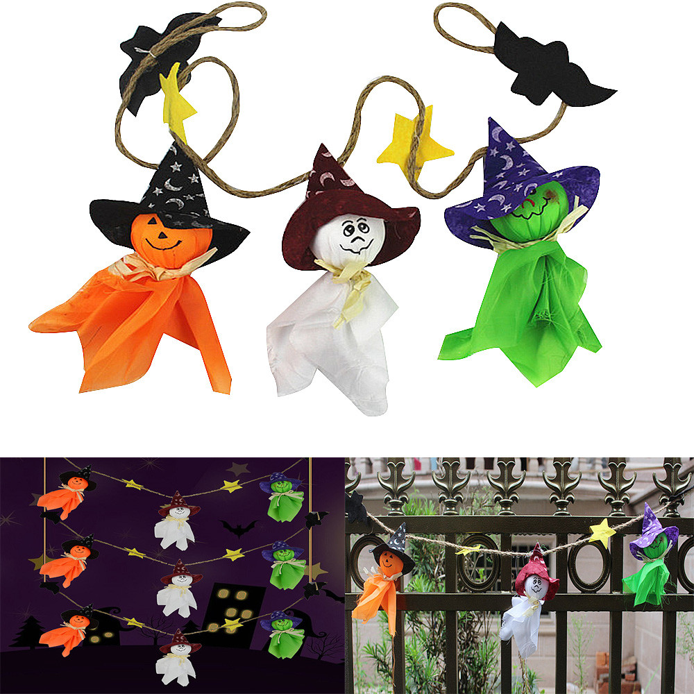 halloween party diy decorations hanging doll ornaments lanyard cute pull flower bar classroom dress up props