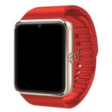 Surmos Neue Bluetooth Smart Gesundheit Uhr Mit Sim-karte Smartwatch GSM SMS Für Apple Samsung GT08 Tragbares Gerät Telefon