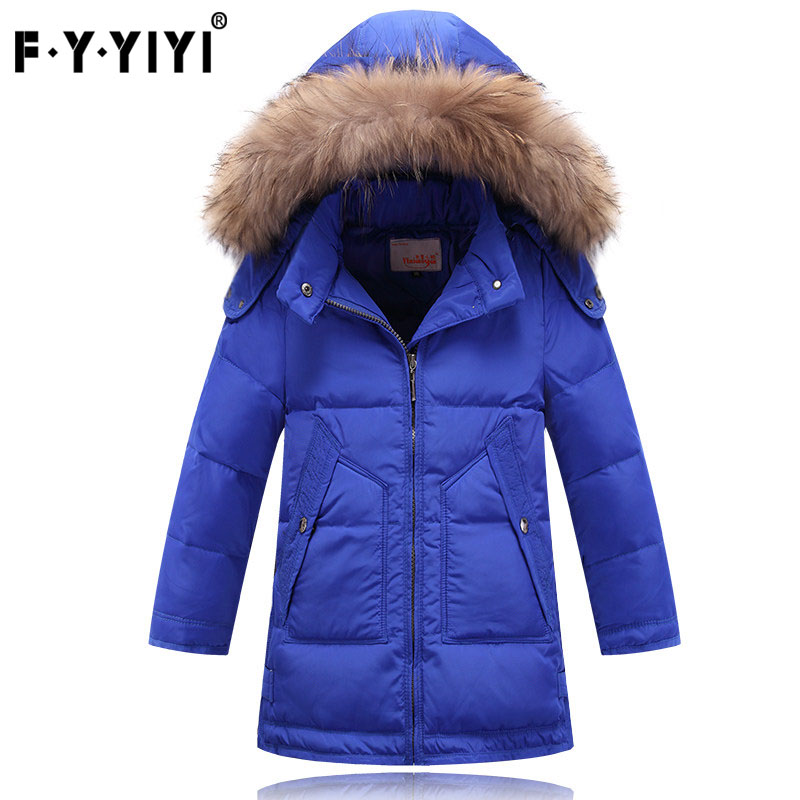 The new 2016 boys down jacket long thickening children down jacket baby clothes cuhk children's winter coat new 2017 winter baby thickening collar warm jacket children s down jacket boys and girls short thick jacket for cold 30 degree