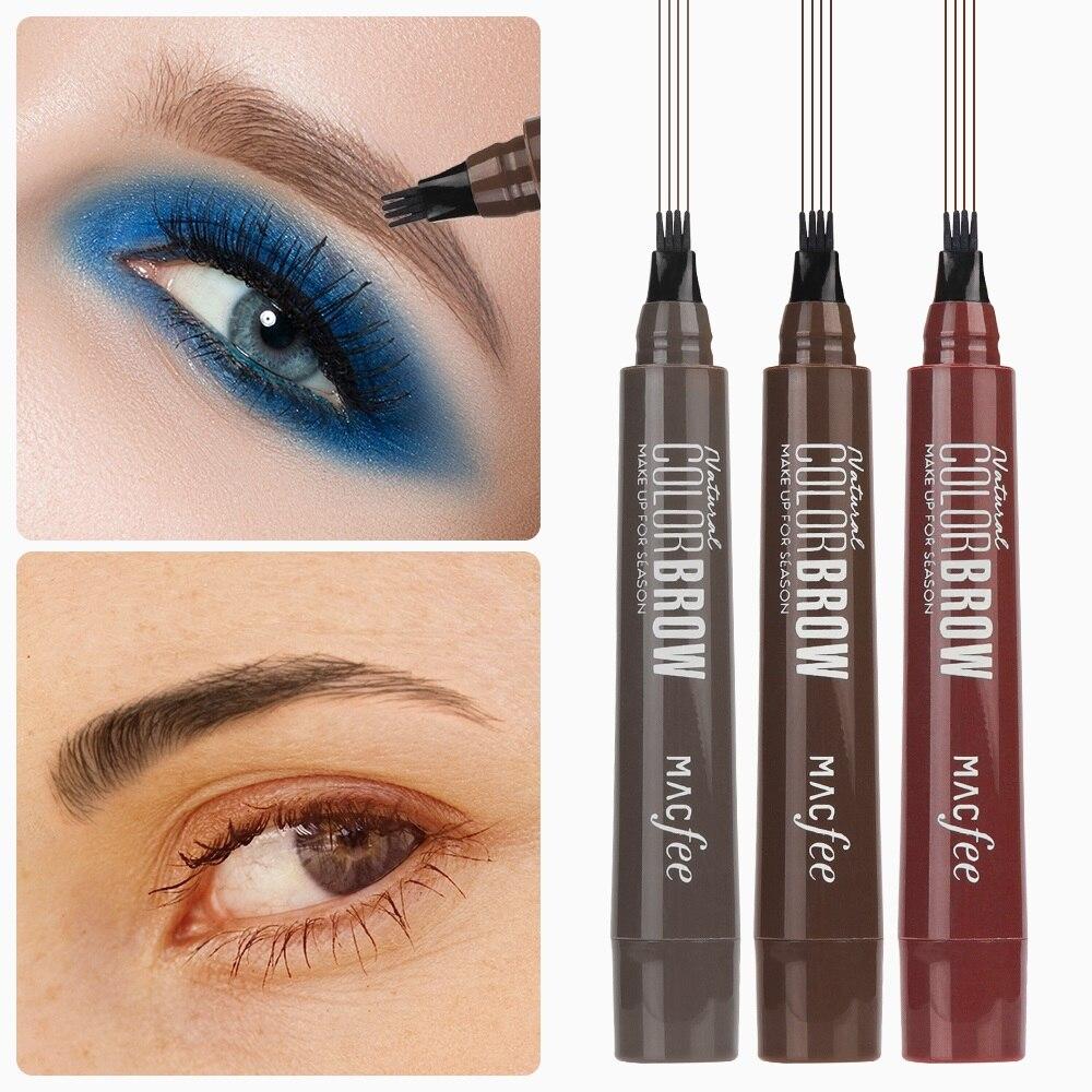 Henna Tattoo Kits For Eyebrows: 3 Colors Eyebrow Enhancers Brush Kits Waterproof Henna