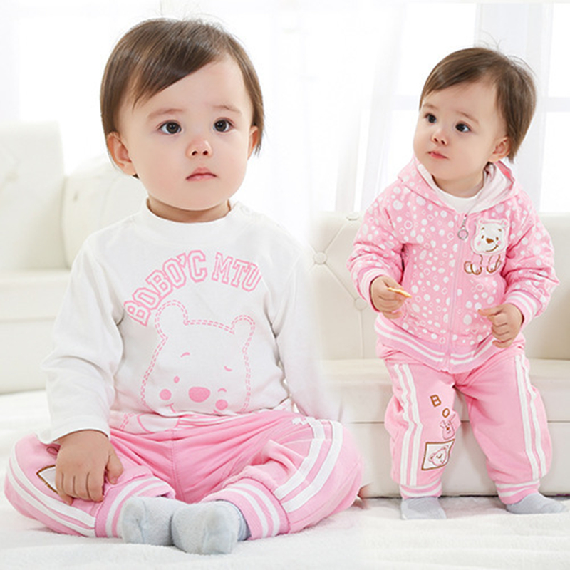ФОТО Anlencool 2017 Brand Male and female baby Sportswear  infants Valley wholesale children's clothing sportswear suit free shipping