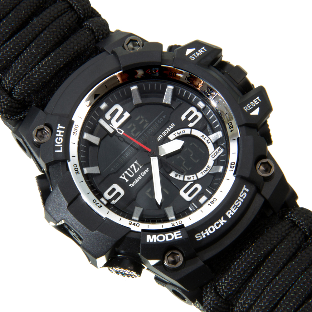 Image 5 - Multifunctional Outdoor Survival kit EDC Camping Safety Equipment  Rescue Rope Bracelet Safety Paracord Watch Compass-in Safety & Survival from Sports & Entertainment