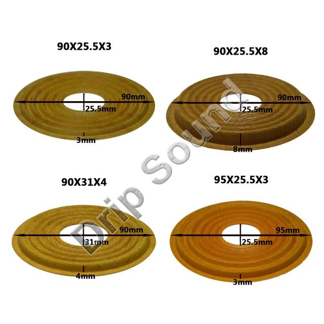 2pcs 90x25.5/90x31/95x25.5mm Elastic Wave Loudspeaker Subwoofer Woofer Bass Speaker Repair Spider Damper