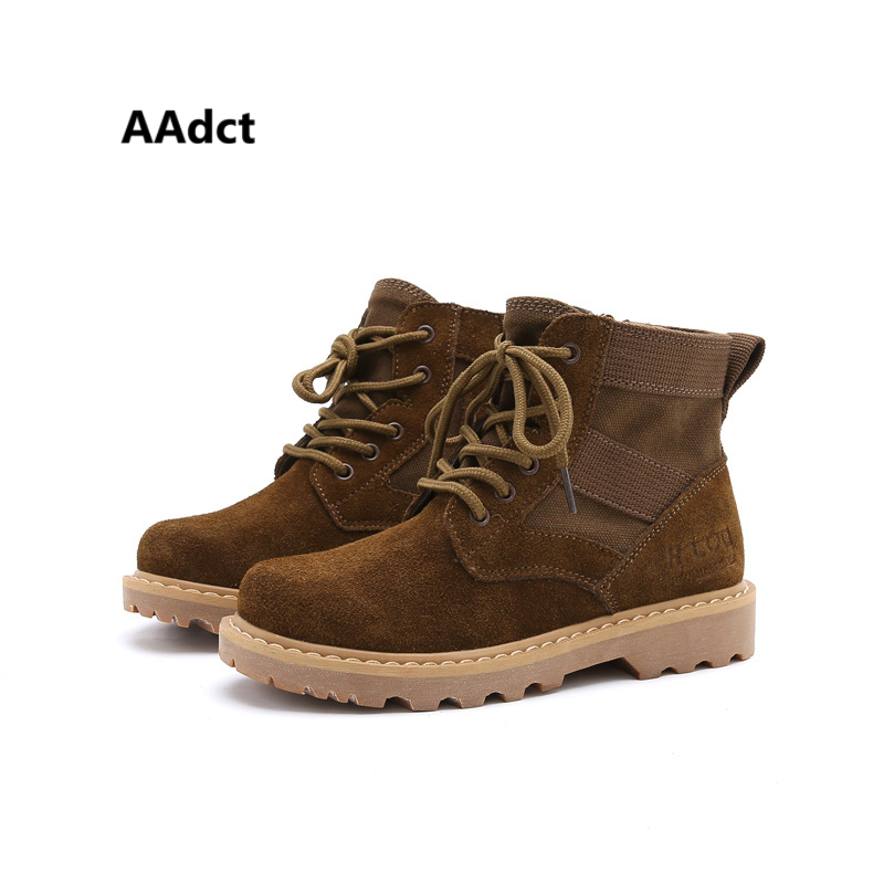 AAdct autumn new boys boots canvas Martin kids boots for girls Brand 2018 children shoes Suede 2016 new brand autumn