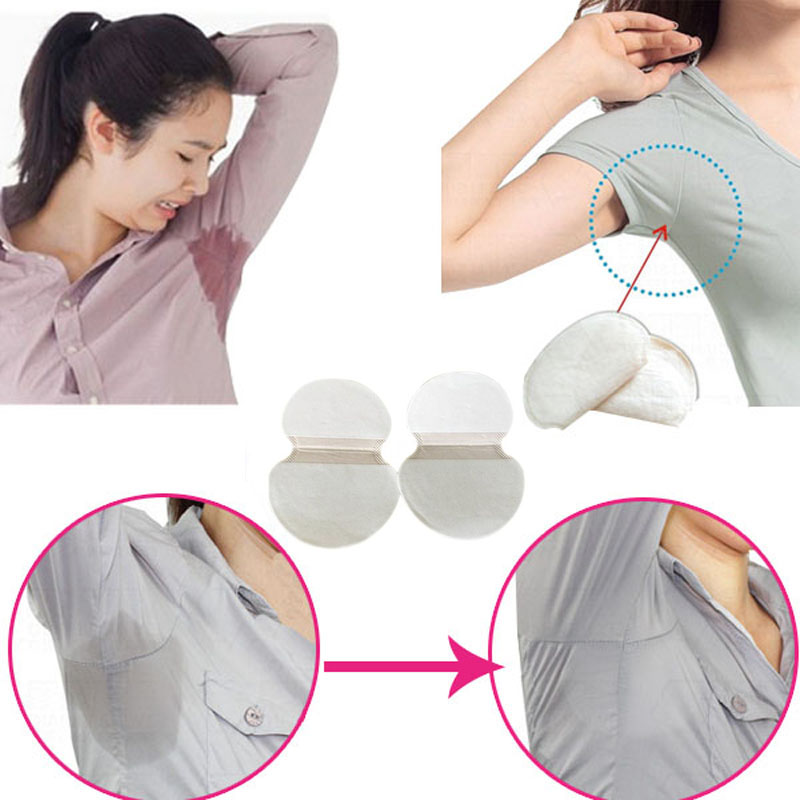 10 Pair  Self-adhesive Stickers In Axillary Sweat Sweatbands Unisex Underarm Sweat Sweat Absorption Paste Antiperspirant Plaster