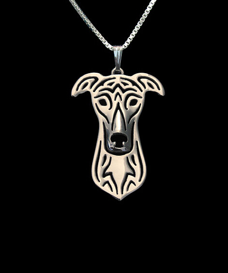 1PCS Drop ship Handmade cartoon greyhound necklace greyhound dog pendant jewelry Silver/gold colors plated