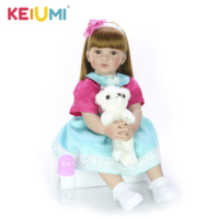 Collectible 24 Inch 60 cm Reborn Toy Soft Silicone Vinyl Newborn Doll For Girl Lovely Reborn Baby Doll Cloth Body Kids Gifts