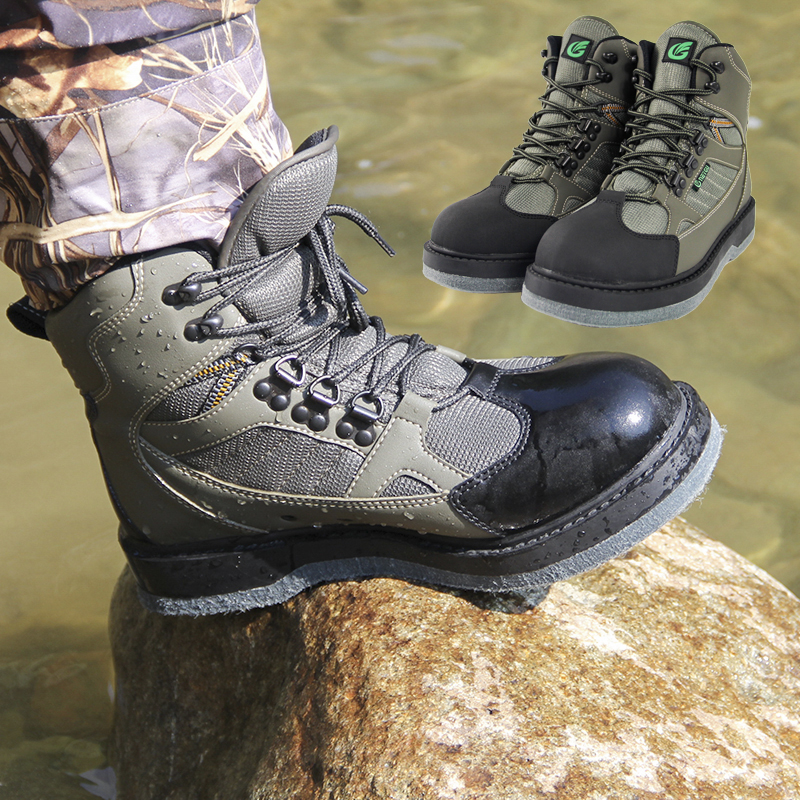 Winter waterproof fishing boots felt sole wader shoes no for Waterproof fishing boots