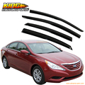 For 2015-2016 Hyundai Sonata Smoked Aero JDM Wind Deflectors Stick On Window Visors USA Domestic Free Shipping