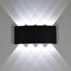 Image 1 - YooE الحديثة 4 واط 6 واط 8 واط داخلي وحدة إضاءة LED جداريّة أضواء الشمال في الهواء الطلق مقاوم للماء IP65 حتى أسفل الشمعدان غرفة المعيشة الشرفة حديقة مصابيح الحائط