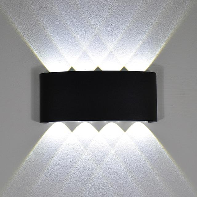 YooE الحديثة 4 واط 6 واط 8 واط داخلي وحدة إضاءة LED جداريّة أضواء الشمال في الهواء الطلق مقاوم للماء IP65 حتى أسفل الشمعدان غرفة المعيشة الشرفة حديقة مصابيح الحائط
