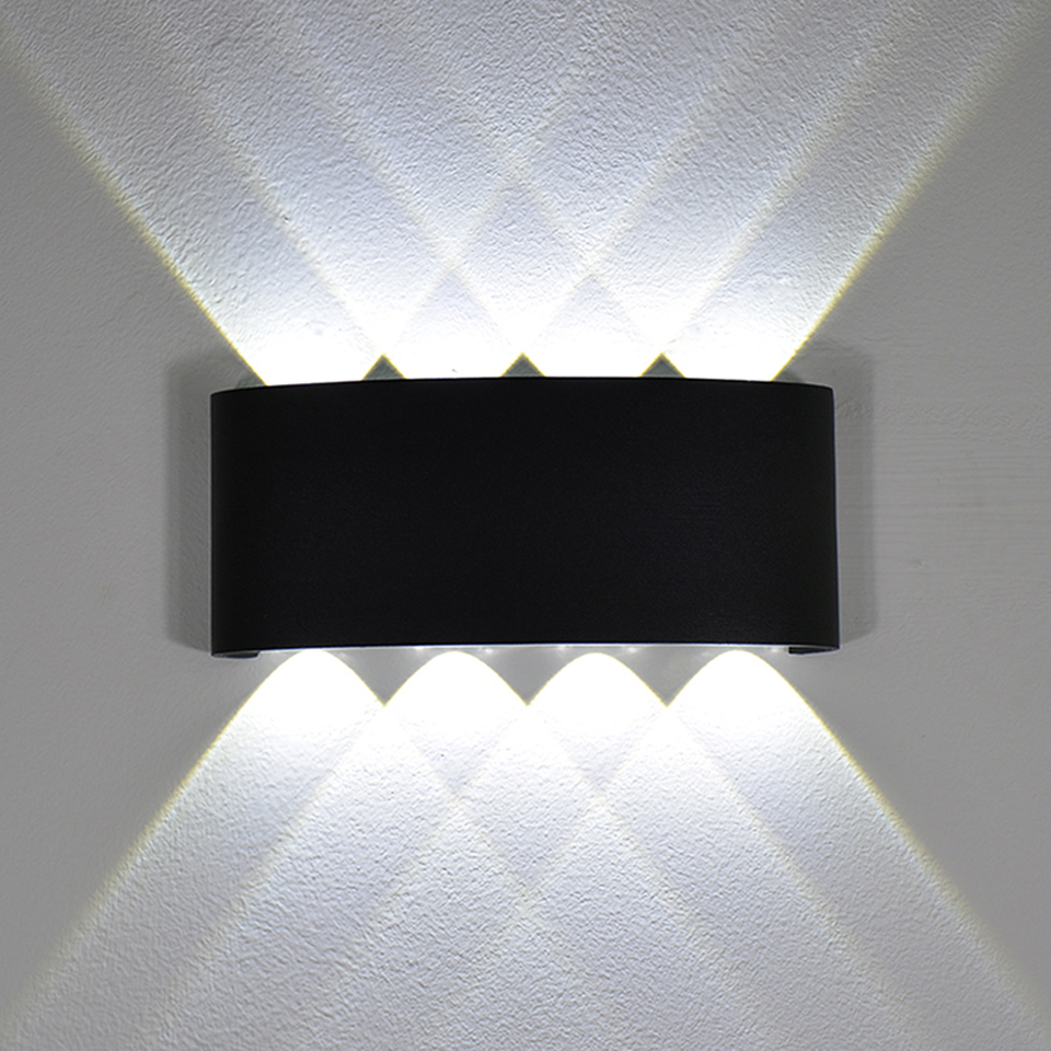 YooE Modern 4W 6W 8W Indoor LED Wall Lights Nordic Outdoor Waterproof IP65 Up Down Sconce Living Room Porch Garden Wall lamps
