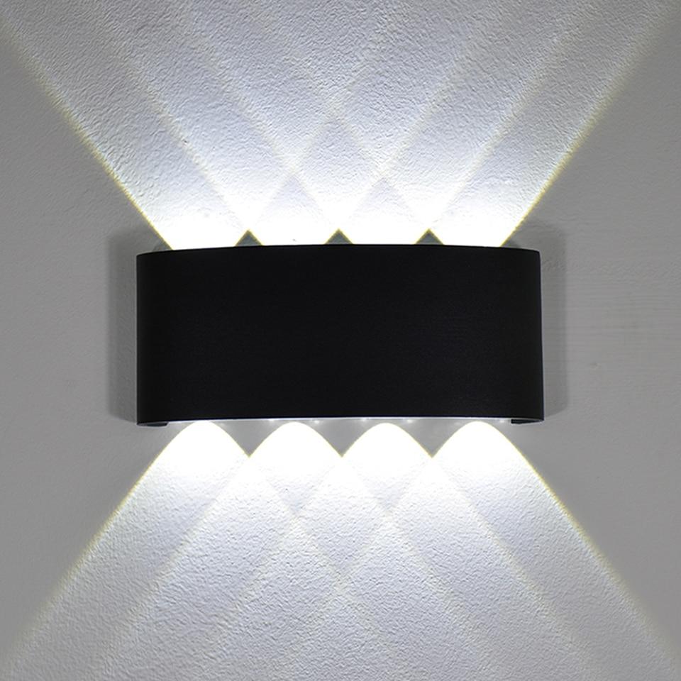 Elegante Lámpara LED E27 220 V IP44 Puerta de pared cerca de iluminación interior//exterior RAD-12