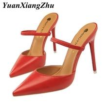купить Summer Shoes Women Sandals Women High Heel Slippers sandales femme 2019 Fashion Party Pumps Wedding Shoes Woman Stripper Heels дешево
