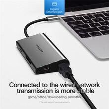 USB HUB Type C to USB 3.0 HUB HDMI RJ45 Thunderbolt 3 Adapter for MacBook Samsung S9 huawei P20/P20 pro Type-C USB C HUB