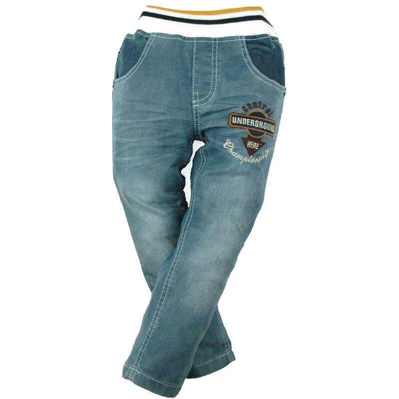 12m-7y Ragazzi Del Denim Dei Pantaloni Del Ricamo Casual Jeans 4 Tasche Carotte Teenager Bambini Elastico In Vita Di Alta Qualità Di Marca Mh9601