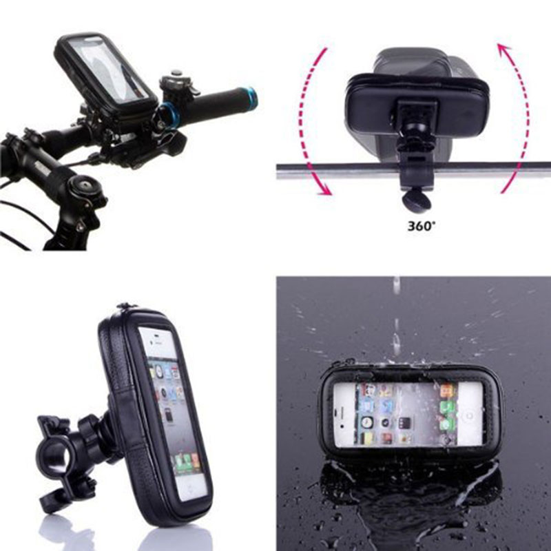 360° Waterproof Bike Bicycle Mount Holder Phone Case Cover For all Phones