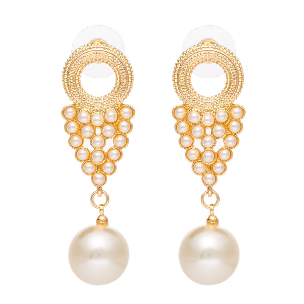 Hot Selling Vintage Gold Earrings Long Pearl Dangle Pearl Earrings For  Women Drop Earring Boucles D