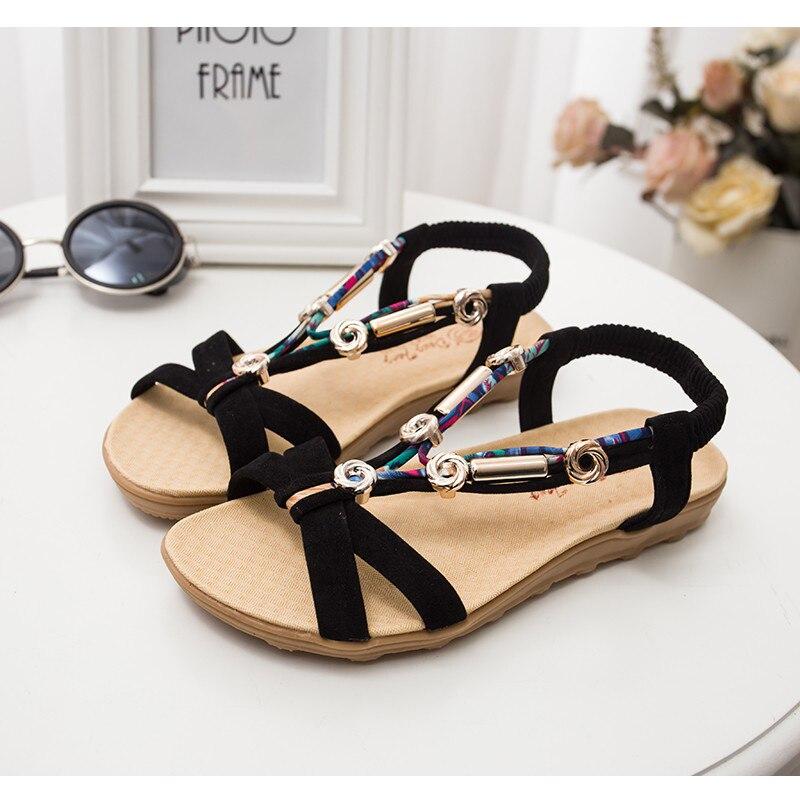 c3864d6bd506 QUANZIXUAN Bohemian Peep Toe Women Sandals Summer Beach Sandals ...