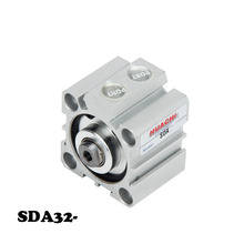 Free Shipping SDA 32mm Bore 5/10/15/20/25/30/35/40/45/50/60/70/75/80/90/100mm Manufacturers pneumatic components thin cylinder.