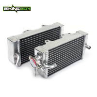 BIKINGBOY Radiator Engine Cooling for Honda CRF 450 R CRF450R 02 18 03 CRF450X CRF 450 X 05 06 07 08 09 10 11 12 13 14 15 16 17