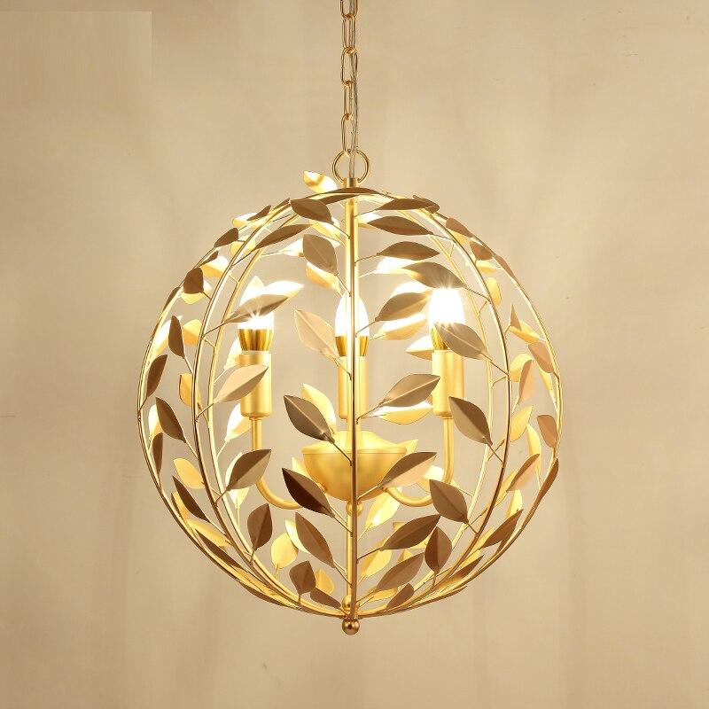 Nordique rond or pendentif lumière salon créatif restaurant chambre concepteur vêtements magasin lampes suspendues Z18626