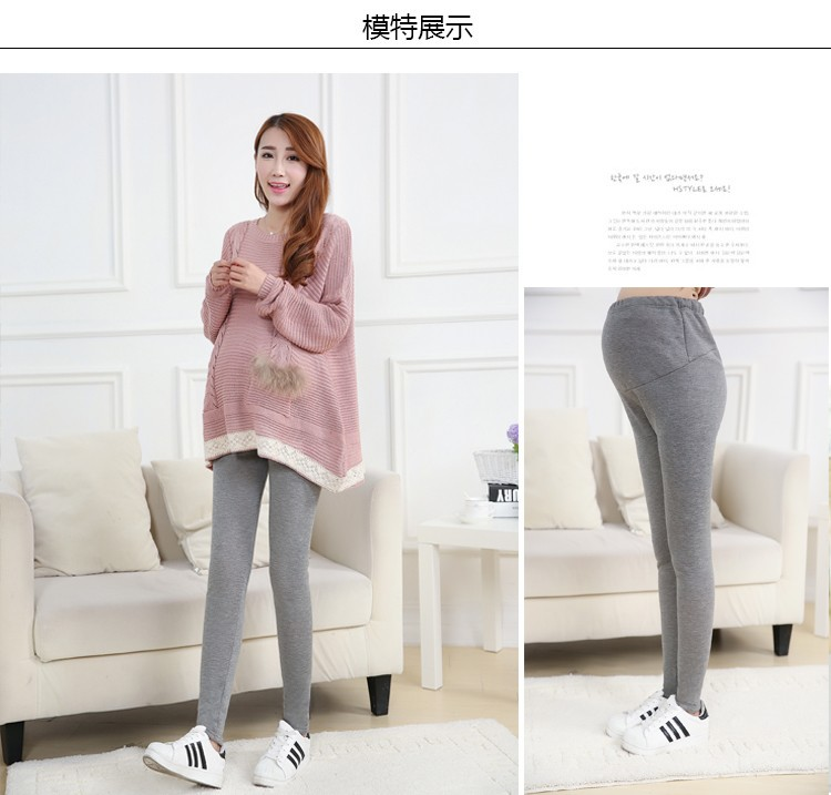 Women Clothing Leggings High Waist Leggings Maternity Clothes Winter Leggings Thickened Pregnant Women Trousers Warm Pants 2016 3