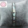 JZB0092 Design Exclusivo Fogo Opal Pulseiras de Platina Banhado A Prata Pulseiras Presente Dos Amantes de Jóias Para As Mulheres Pulseiras Pulseras SZ004