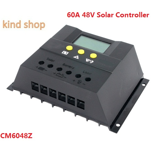 60A Solar Charge Controller 48V LCD Display PV Panel Battery Charge Controller Solar System Home Indoor Use CM6048 kislis 4874