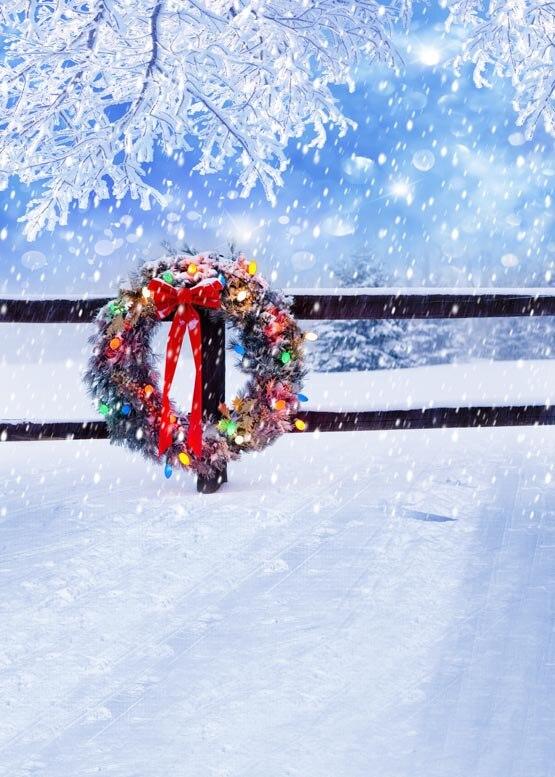 Custom vinyl print cloth Christmas wreaths photography backdrops for Children photo studio portrait backgrounds props S-998 custom vinyl print cloth school blackboard photography backdrops for children photo studio portrait backgrounds props s 1467
