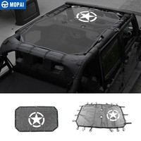 MOPAI Various Styles 2/4 Door Car Top Sunshade Mesh Cover Roof UV Proof Protect Net for Jeep Wrangler JK 2007+ Car Accessories