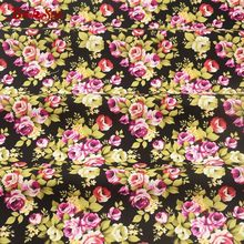 Booksew Cotton Poplin Fabric Printed Charming Rose Skirt Home Textile Pillows Cushion High Quality Children's Bed Sheets Crafts(China)