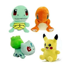 4pcs lot 15cm Anime Bulbasaur Squirtle Charmander PIKACHU Soft Stuffed Plush Toys