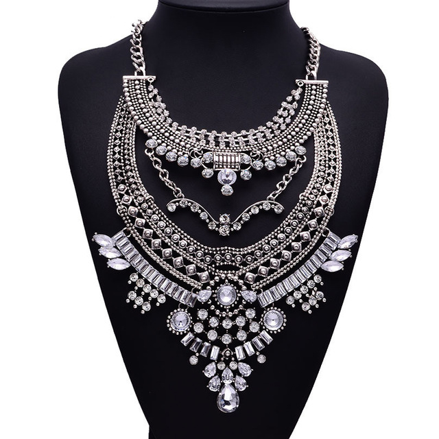 HTB1HaoOaTHuK1RkSndVq6xVwpXa1 - Miwens Collar Za Necklaces Pendants Vintage Crystal Maxi Choker Statement Silver Color Collier Necklace Boho Women Jewelry