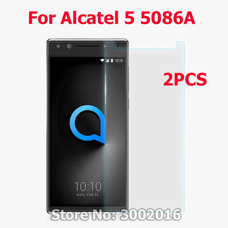 2PCS Mobile Phone Film Cover For Alcatel5 5086A 5086D <font><b>5086Y</b></font> Tempered Glass Screen Protector For <font><b>Alcatel</b></font> <font><b>5</b></font> <font><b>5</b></font>.7