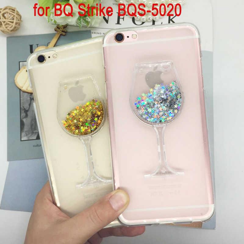 Мягкий силиконовый чехол для телефона чехол для BQ Strike BQS 5020 bqs-5020 зыбучие пески горный хрусталь Красное вино Стекло узор Fundas чехол Чехол