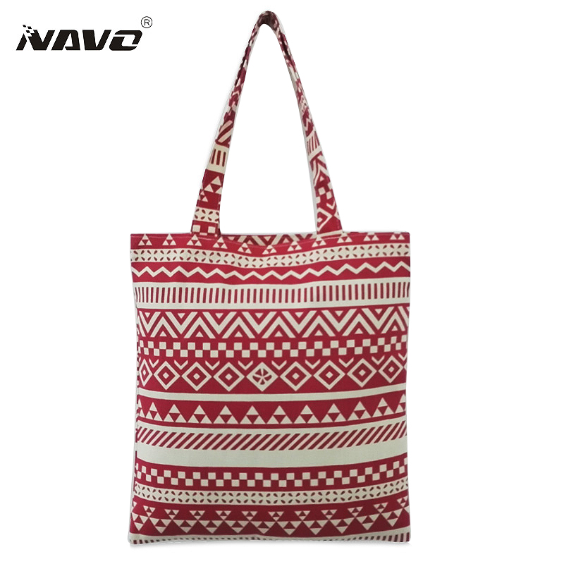 Cotton Canvas Shopping Bags Women Fabric Shoulder Bag Female Handbags Fashion Bags For Shopping Reusable Shopper Bag free shipping new beight with black canvas small high quality shopping bags women handbags shoulder bags shopping bag qjl145