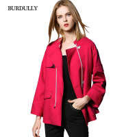 BURDULLY British Style Winter Jacket Women 2017 Fashion Winter Coat Women Casual Jacket Solid Color Jaqueta
