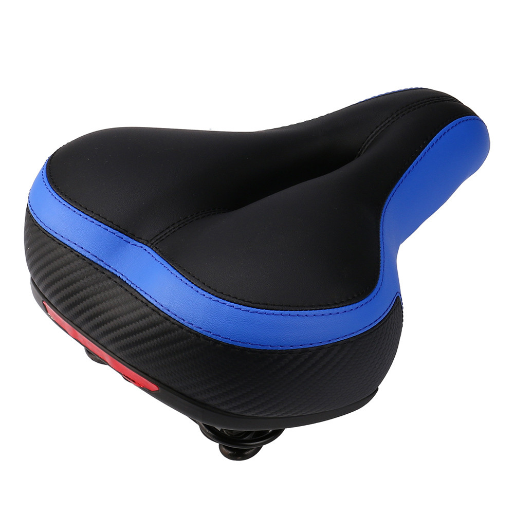 Wide Big BUM Bike Bicycle Cruiser Comfort Sporty Soft Pad Saddle Seat Black