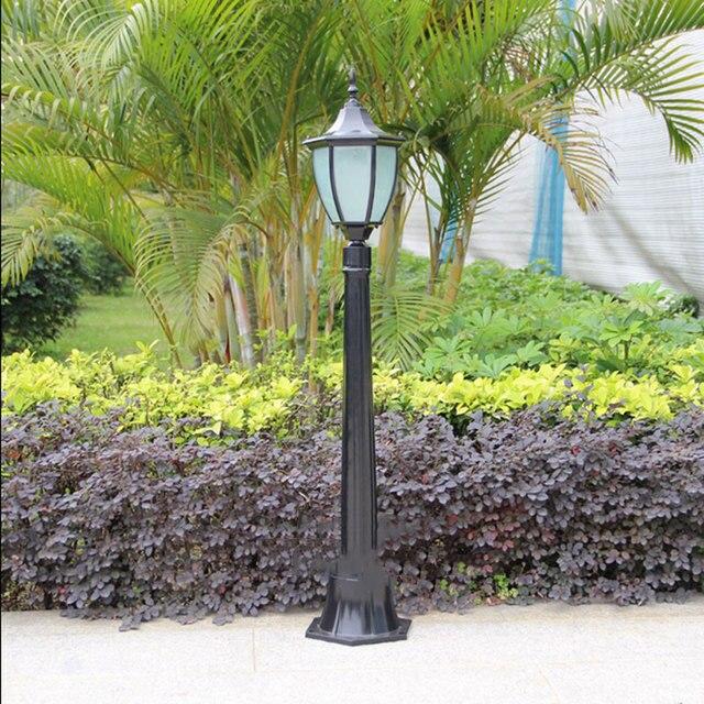 Outdoor Lawn Bollards Gr Villa Garden Lights Street Waterproof Lamp Landscape Pole Lighting Fixtures Light