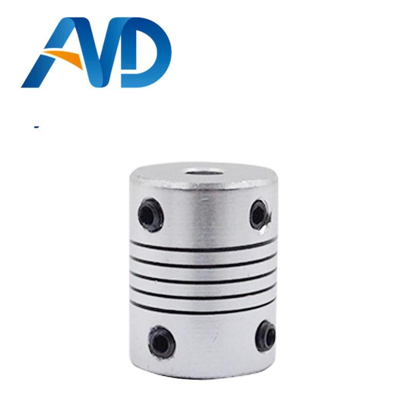 1pc D19mmXL25mm Inner 5X8mm Flexible Couplings Aluminium CNC Stepper Motor Flexible Shaft Coupler 5*8