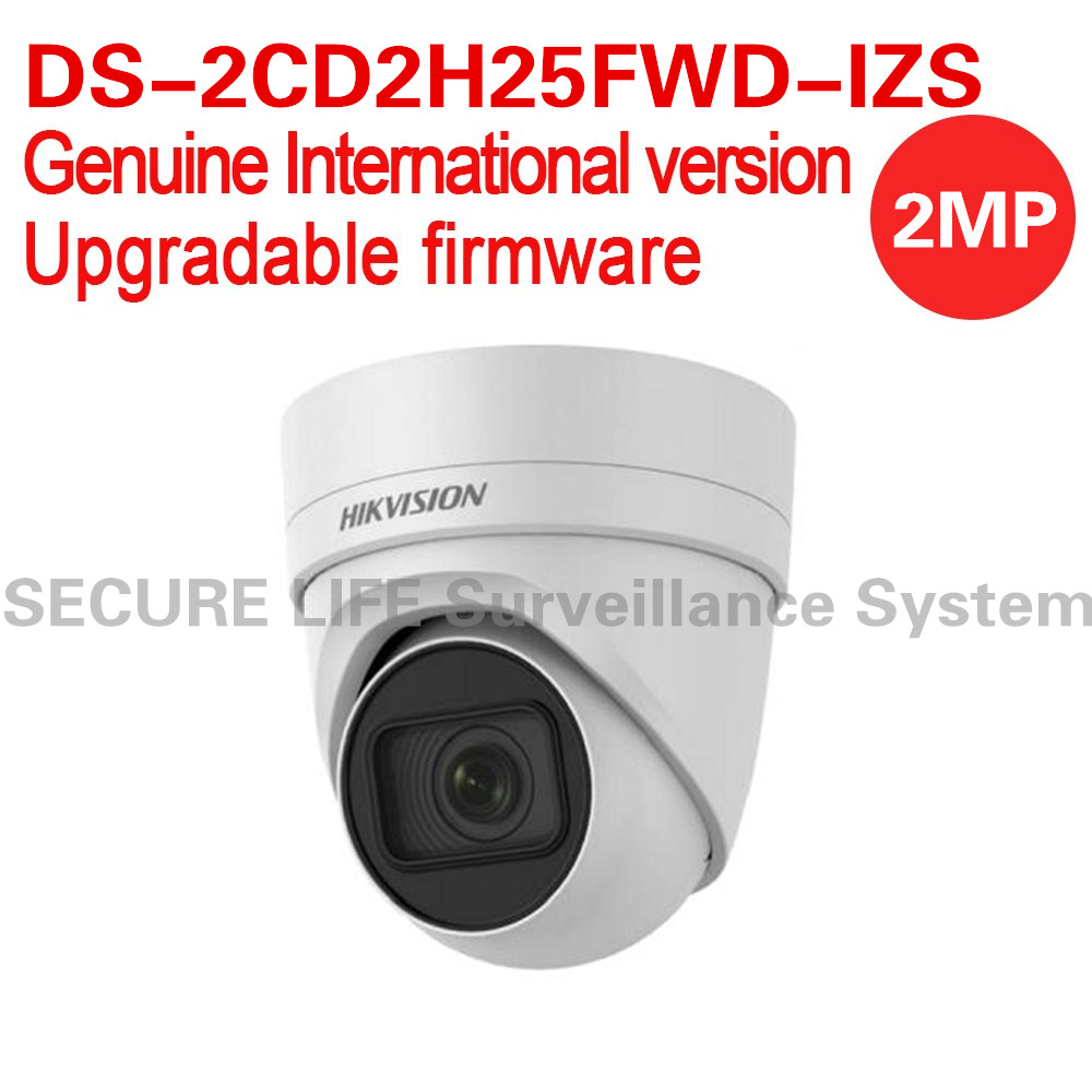 Free shipping English version DS-2CD2H25FWD-IZS 2MP turret ip security camera behavior analyses VF lens ultra-low light H.265+ international english version ds 2cd2h85fwd izs 8mp network turret ip cctv camera behavior analyses wdr vf lens ip67 ik10 h 265