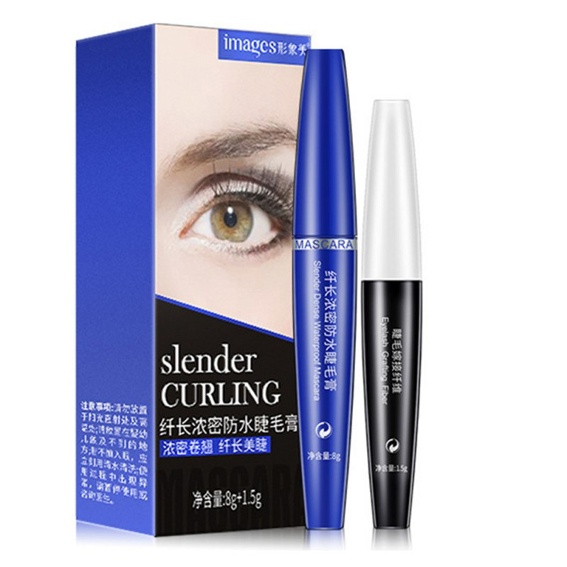 3D 2pc Black Curling Mascara Makeup Volume Quick Dry Thick Extension Lengthening Eyelashes Waterproof Lasting Cosmetics