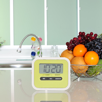 Alarm Clock Timer Lazy ABS Kitchen Cooking Electronic Student Experiment Reminder Timing Tools For Kitchen Kitchen Timer