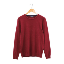 Men Solid Sweater Regular O-neck Casual Long Sleeve Knitted Male Autumn New Class Design