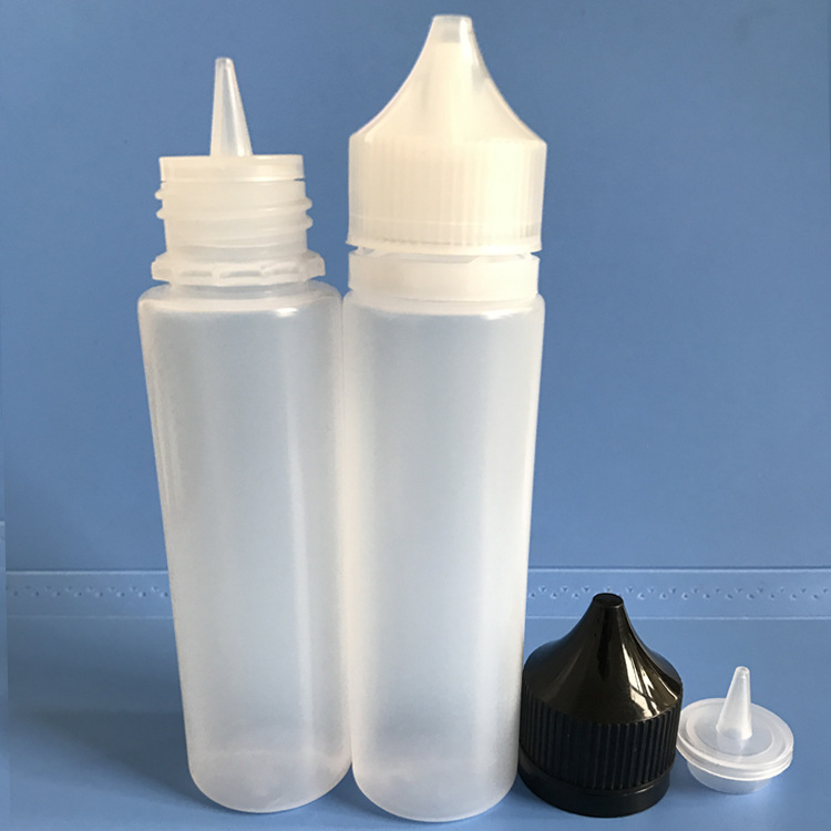50pcs/lot 60ml Empty Plastic LDPE Dropper Bottles Water Liquid E Juice Eye Squeezable Bottle Pointed Tip Caps Vape Oil Container