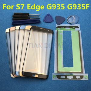 Image 2 - Yedek Harici Cam Samsung Galaxy S7 Kenar G935 S6 Kenar G925F dokunmatik LCD ekran Ekran Ön Cam Dış Lens